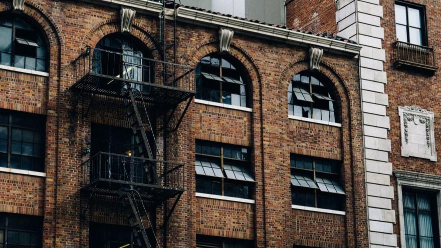 fire escape brick building